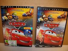 DISNEY PIXAR CARS DVD w/ Sleeve  Full Screen Bonus Features VGC