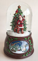 SNOW GLOBES - SANTA WITH FOREST FRIENDS MUSICAL SNOW GLOBE