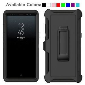For Galaxy Note 8 Case Cover Shockproof Series Fits Defender Belt Clip