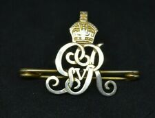 Vintage WW1 King's Crown gilt Norfolk Yeomanry sweetheart brooch lapel pin badge