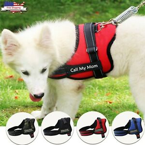 Dog Harness Personalized Name Tag Adjustable Dog Vest Small Medium Large XL XXL