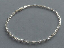 """Bracelet- Anchor Link 080-Italy 925 New Italian Sterling Silver -10"""" Ankle"""