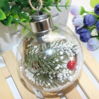 Transparent Christmas Ball LED Lights Tree Ornament Plastic Bauble Xmas Gif Y8C1
