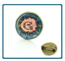 MASONIC Master Mason Blue Lodge Glass Cabochon Freemason Lapel Pin hat NEW