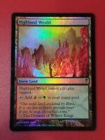 2006 Magic MTG Coldsnap FOIL Highland Weald red green Snow Land Dual LP/NM *HOT*