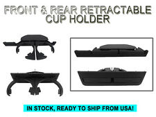 FRONT + REAR RETRACTABLE CUP HOLDER SET 97-03 BMW E39 5 SERIES OE Replacement