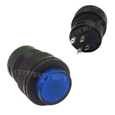 20 3A 250V Self-locking 16mm On Off Push Button Switch Blue Light 503AD car boat
