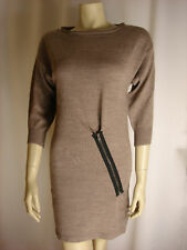 Top Shop Zip Camel Jumper Dress   Size 8