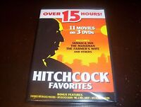 HITCHCOCK FAVORITES Alfred Hitchcock Mystery Movie Classics 11 Movie DVD SET NEW