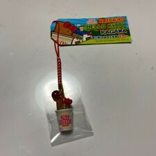 Hello Kitty Keychain Cellphone Strap NISSIN Cup Noodle Sanrio Instant Japan NEW!