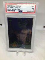1994 Collectors Choice Gold Signature #204 Michael Jordan PSA 7 (GOLF)