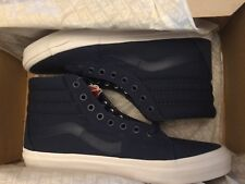 MEN'S VANS SK8-HI (MONO CANVAS) DRESS BLUES VNOA38GEMX3 SHOES SIZE 9