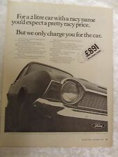 FORD CORSAIR 2000 DE LUXE 1967 POSTER ADVERT READY TO FRAME A4 SIZE