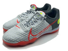 Nike Men's Size 7 React Gato Indoor Soccer Shoes CT0550-160 White Crimson Red