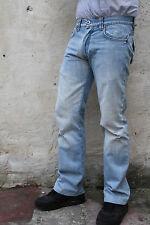 Primo Emporio Jeans Da Uomo Sbiadito Jeans Denim Blu Chiaro Cotone Gamba Dritta W30
