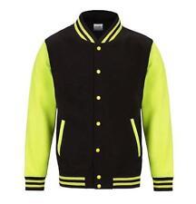 Popper Hip Length Baseball College Coats & Jackets for Men
