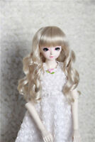 1/3 BJD Doll Hair Wig 9-10 inch 22-24cm Curly Long MSD SD Super Dollfie Wig