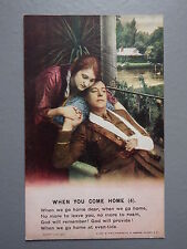 R&L Postcard: Bamforth Song Card When You Come Home 4, Series 4874
