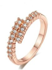 18K Champagne Gold Plated Made With Swarovski Element Crystal Ring (R776-38)