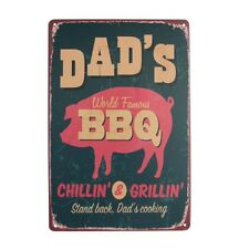 Vintage Retro Metal Tin Sign Poster Plaque Bar Pub Club Wall Home Decor 20x30cm Dad's BBQ