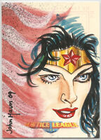 DC Comics JLA Archives ~ JOHN HAUN Sketch Card ~ Wonder Woman