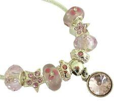 Ciondoli di bigiotteria rosa in pietra