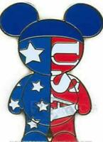 Disney Pin 61043 Mouse Ears People Americana USA Patriotic Red White and Blue