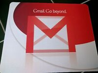 Google Gmail Go beyond Promo 2004 launch MOUSE PAD 9 X 7inch USA Android