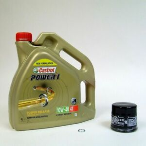 Yamaha FJR 1300 Service Kit Ölwechsel Castrol Power1 10W-40 4L + Ölfilter