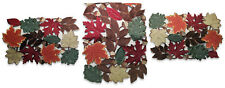 """Dresser Scarf Table Runner 54"""" Autumn Set + 2 Doilies Maple Leaves Leaf Placemat"""