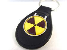 RADIOACTIVE RADIATION SYMBOL HAZARD WARNING NUCLEAR BIO ATOM KEYRING KEYFOB FOB