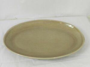 Ben Seibel Raymor Contempora Brown Oval Platter Steubenville Mid Century Modern