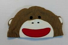 Sock Monkey Baby infant hat 0-9 months newborn boy girl      *B3