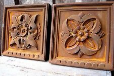Vintage Distressed Rust Tone Old Plaster Wall Plaques Home & Garden Hanging Sign