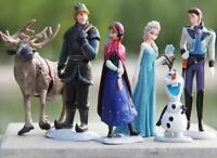 Frozen Figure Cake Toppers Disney Figures Elsa Olaf Anna Hans Kristoff Sven 6pcs