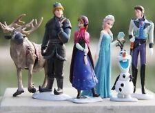 DECORAZIONI PER TORTA FROZEN Figura Figure Disney Elsa Olaf Anna Hans Kristoff Sven 6pcs