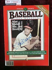 Stan Musial Signed 1995 Baseball Magazine JSA PP45389 St Louis Cardinals