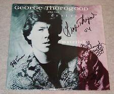 GEORGE THOROGOOD & THE DESTROYERS Signed/Autographed MAVERICK Vinyl Album LP JSA