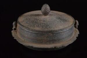 P7607: Japanese XF Old Iron Shapely TEAKETTLE Teapot Chagama, auto Tea Ceremony