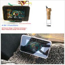 4IN1 Car LCD Digital Oil Pressure Gauge+Voltmeter+Water TempMeter+Oil Fuel Gauge