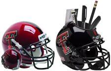 TEXAS TECH RED RAIDERS NCAA Schutt XP Mini Football Helmet / Desk Caddy *COMBO*