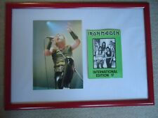 More details for iron maiden fan club magazine no 17 + iron maiden photo rare gig image two gems