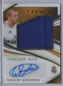2020 IMMACULATE SOCCER PREMIUM WESLEY SNEIJDER JERSEY AUTO /75 REAL MADRID [WF]