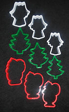 9 x CHRISTMAS xmas Cookie plastic Biscuit cutters ANGEL SANTA TREE