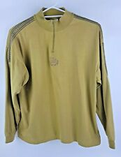 Vedo Verde Mustard Green Long Sleeved Womens Top Vintage 80s 90s Size Large