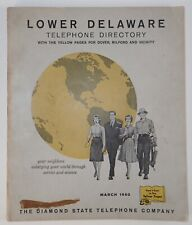 1960 LOWER DELAWARE TELEPHONE DIRECTORY W/Yellow Pages Genealogy Advertising