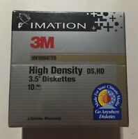 Imiation 3M Unforatted High Density DS HD 3 5 Diskettes 10 Pack Sealed Brand New