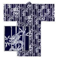 """Japanese Yukata Kimono Men Sash Belt 58"""" Cotton RYU Dragon Bamboo Made in Japan"""