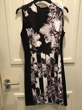 BNWT H&M Black White Floral Pencil Dress 12 £29.99