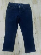Bandolino Jeans Size 4 Dark Stretch Excellent Condition Cropped Length